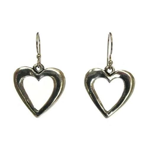 Large Open Heart Earrings