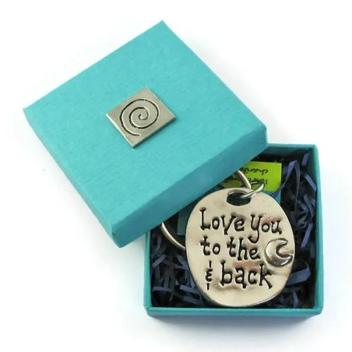 Love you to the Moon and Back Keychain