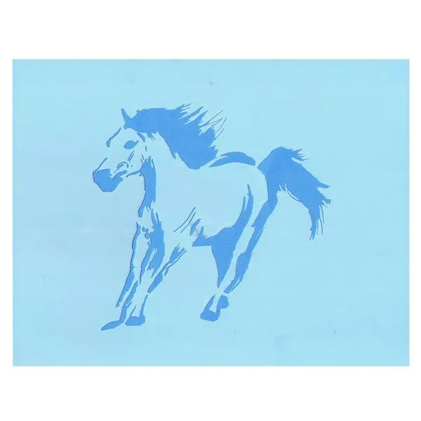 Galloping Horse Stencil