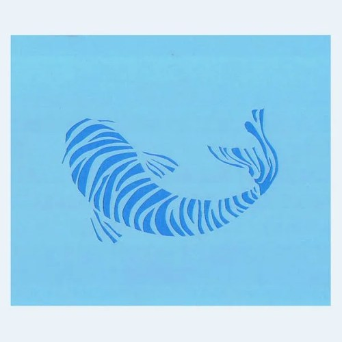 Koi Fish Stencil