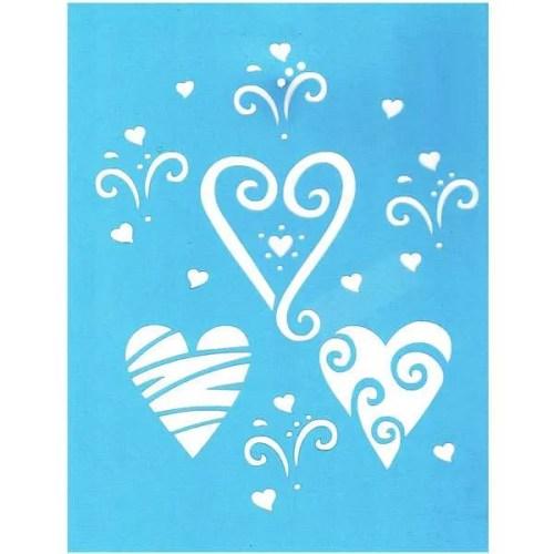 Valentine Hearts Stencil