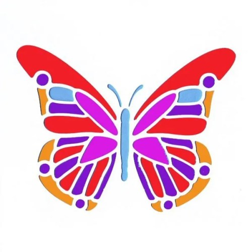 African Butterfly Stencil