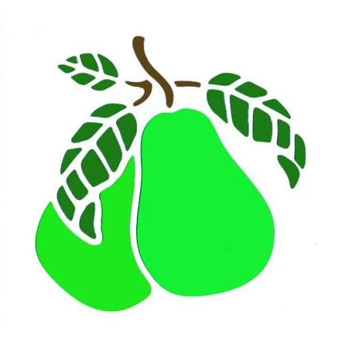 Pears Stencil