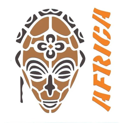 African Mask Stencil