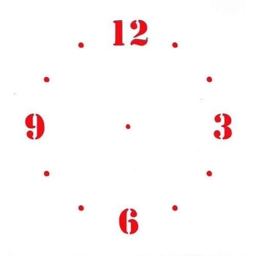 Clock Face Stencil
