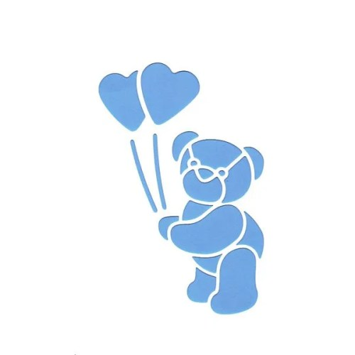 Teddy Hearts Stencil