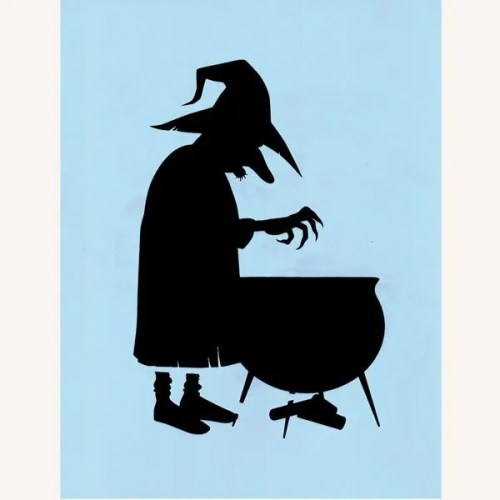 Witch Stirring Cauldron