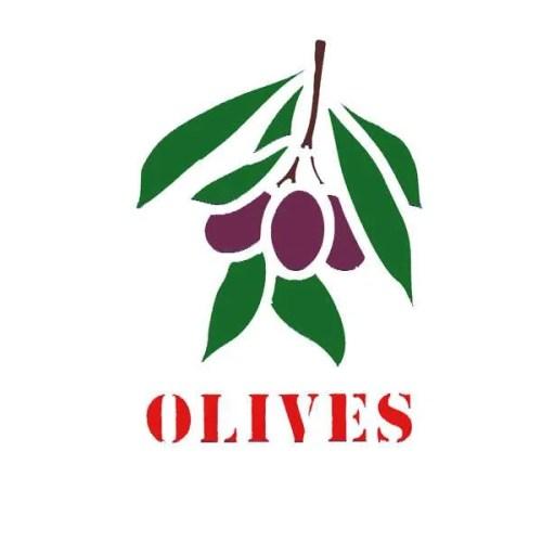 Olive Twig Stencil