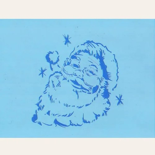 Smiling Santa Stencil