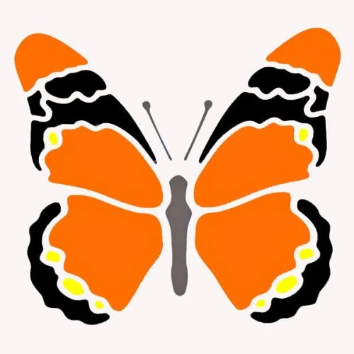 Orange Butterfly Stencil