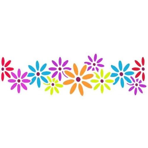 Daisy Border Stencil