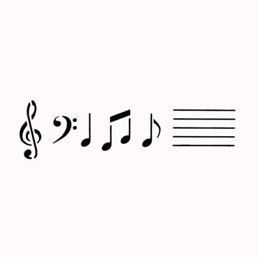 Music Notes Stencil