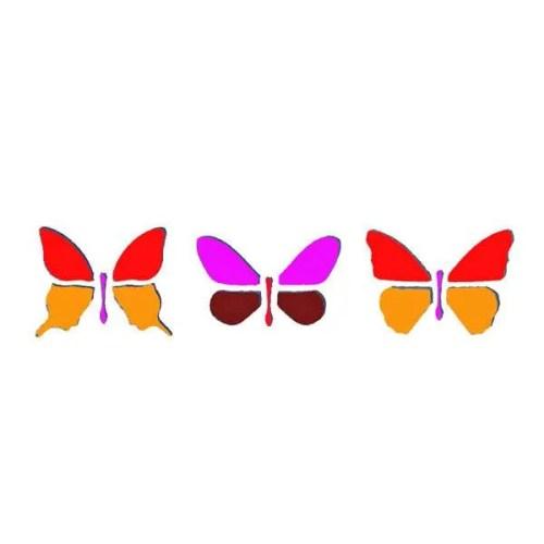 Butterflies border Stencil