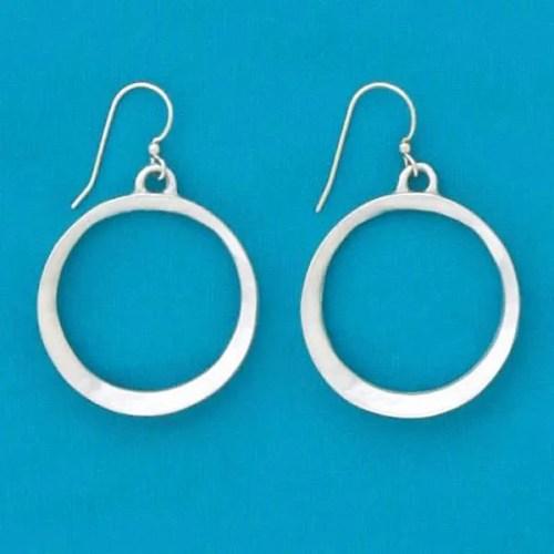 Indent Hoop Earrings