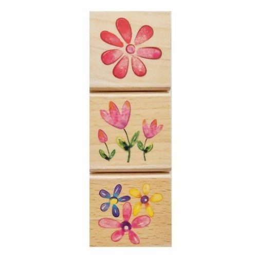 3 Wooden Stampers Set 2