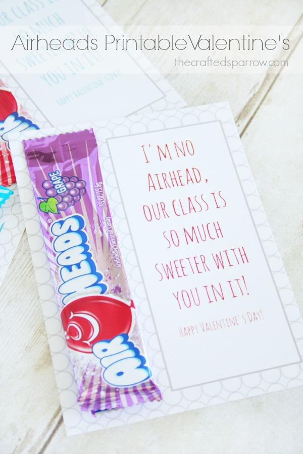 Airheads Printable Valentines