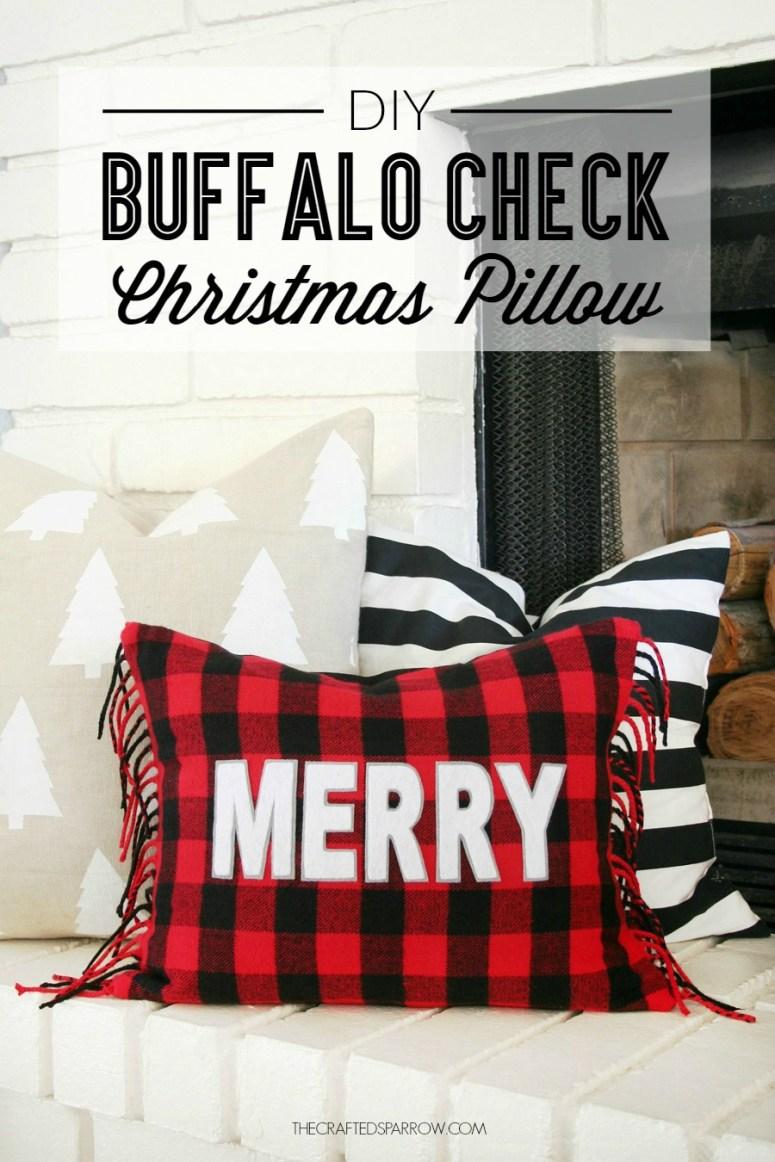 Buffalo Check Christmas Pillow