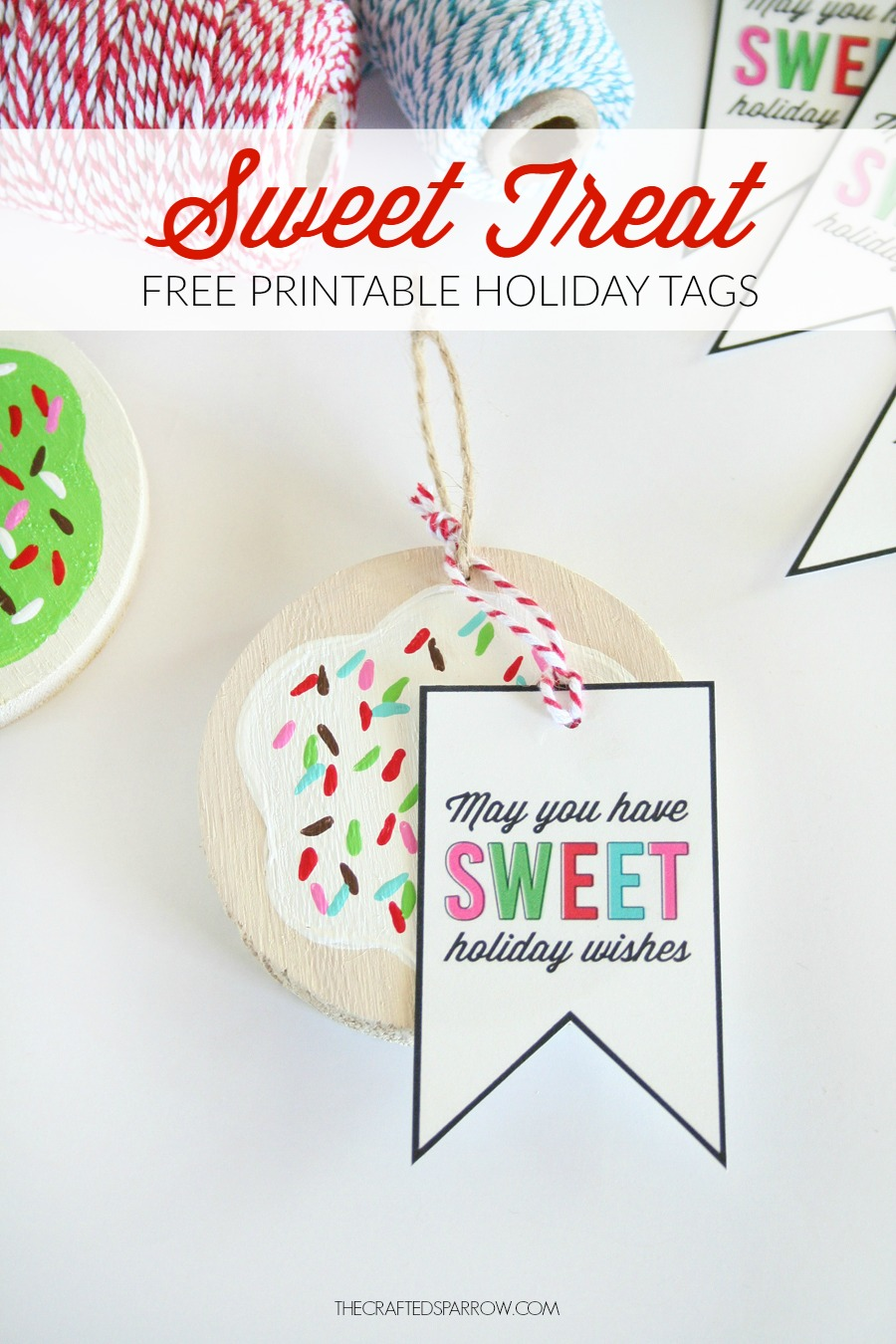 Painted Cookie Ornaments Amp Free Printable Sweet Treat Tags
