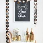 Black White New Year S Eve Bar Cart Ideas