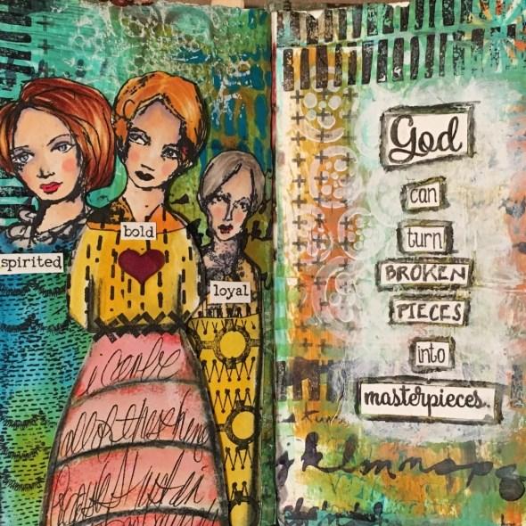 Kim Schofield, Deli Background, Art Journal