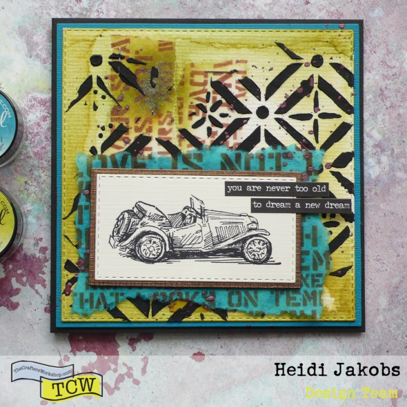 How to create fun layered masculine cards