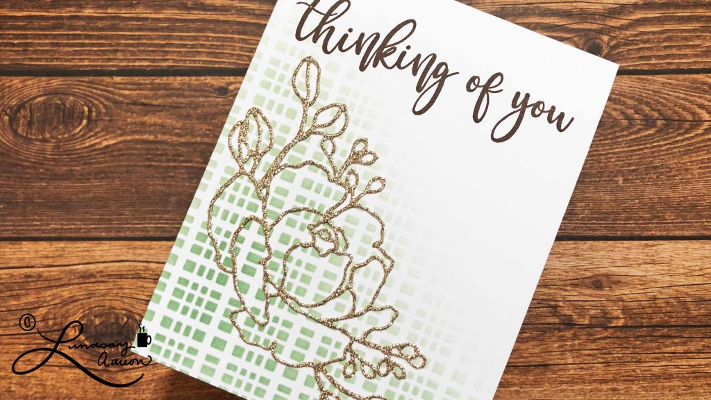 Making a handmade thinking of you card along with your sympathy card is a great way to have a card ready to send at a later date to let the recipient know you're still thinking of them.