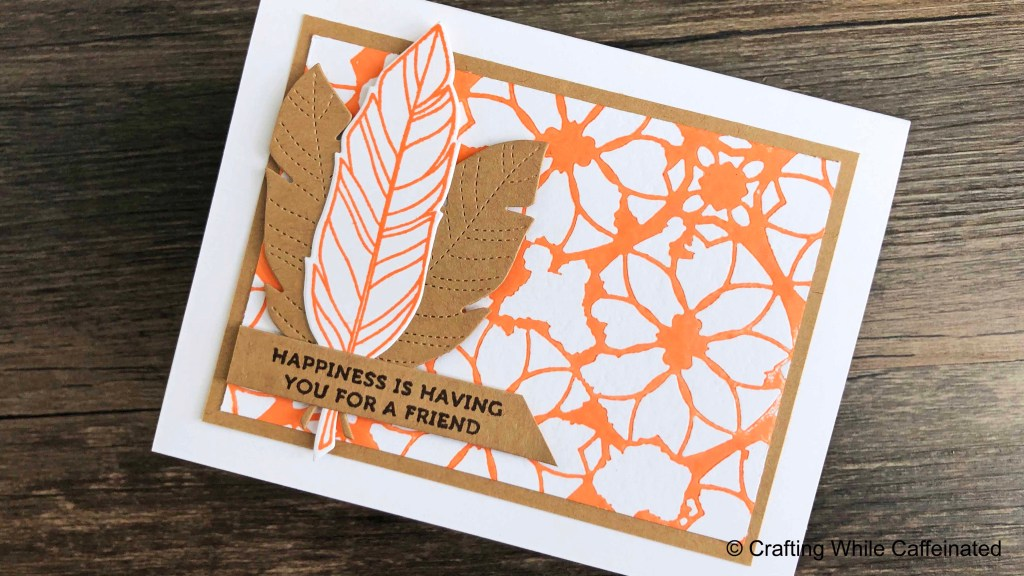 Adding ink to the stencil when you dry emboss creates a letterpress look on your background!