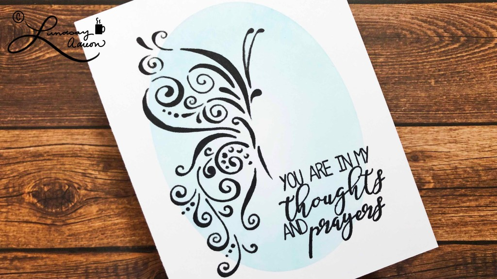 Silhouette stenciling is a great technique to make simple and quick sympathy cards that are elegant, but easy to mail.