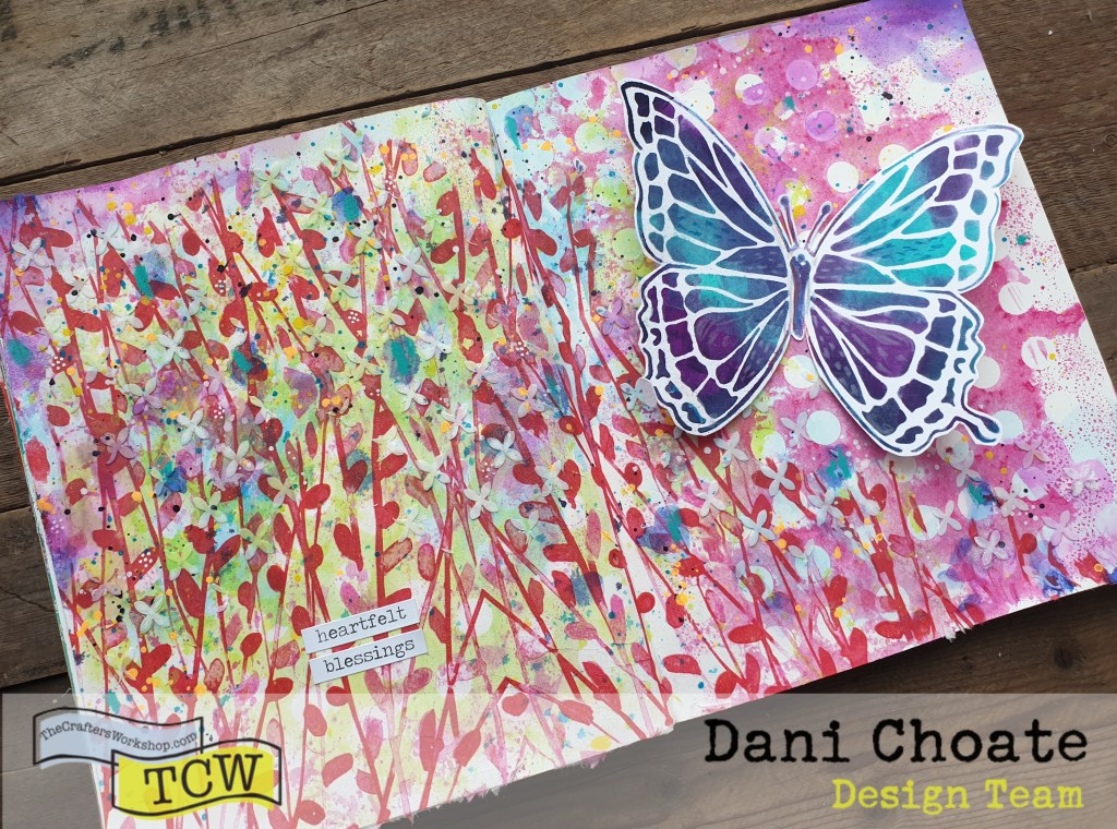 full art journal page - 'Blessings'
