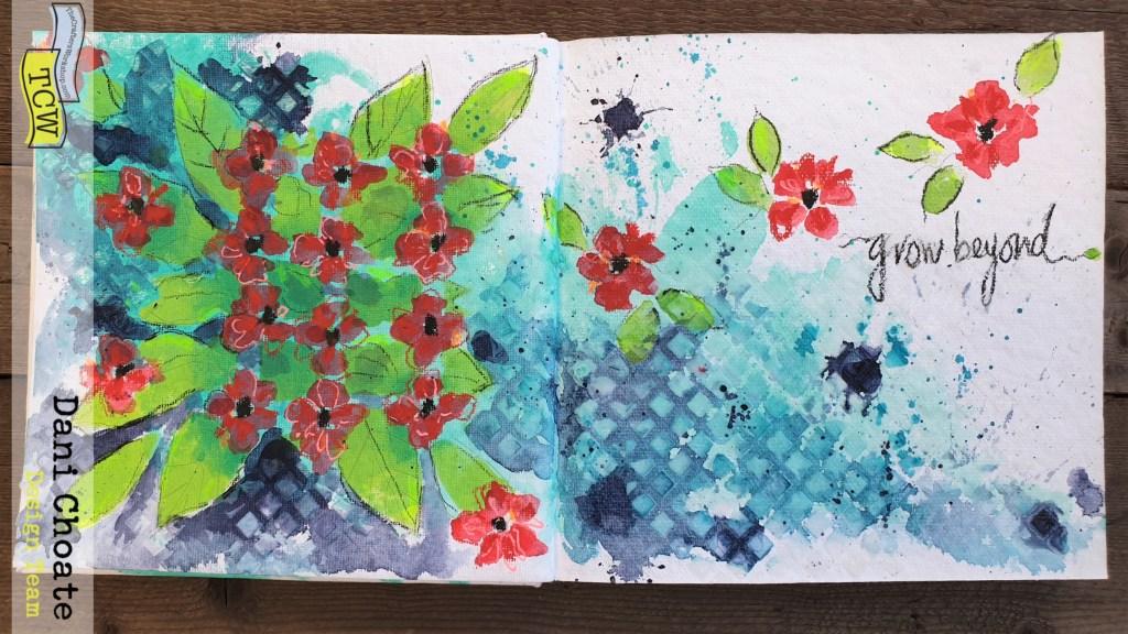 full art journal page - grow beyond