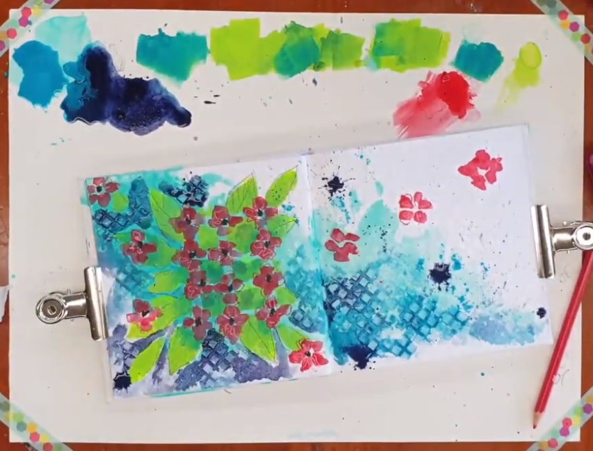 page showing the splats and heavy drips