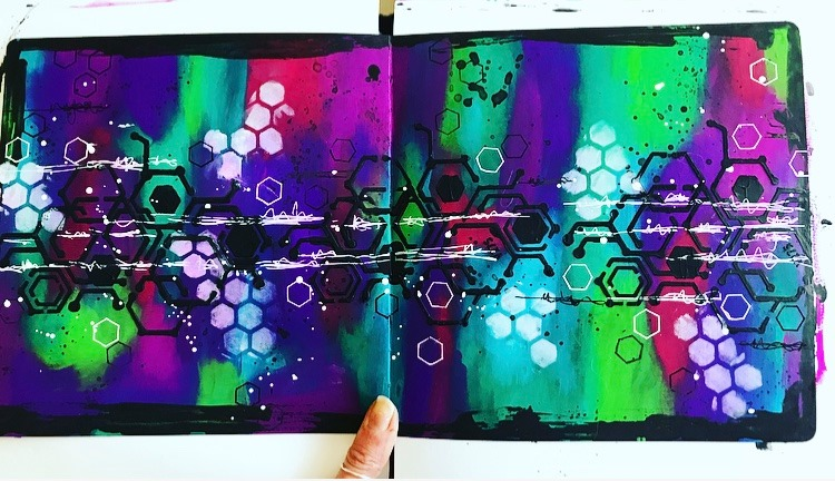 background of art journal page