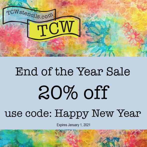 Happy New year Sale at TCWstencils.com