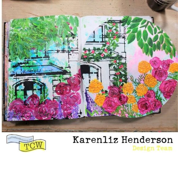 Here is a side by side comparison of my journal the canvas.