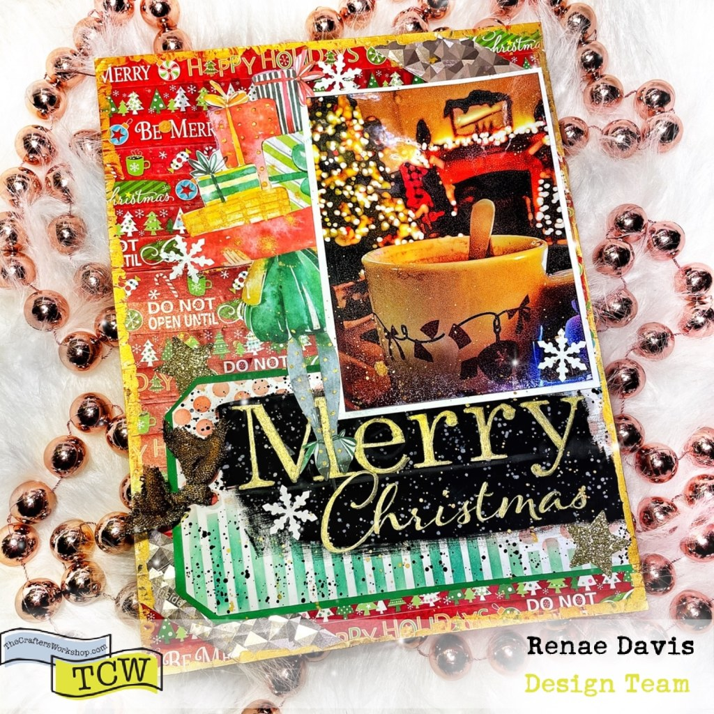 A Scrappy Christmas Scrapbook Page by Renae Davis