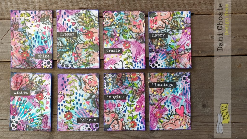 Artist Trading Cards - POSITIVE WORDS
