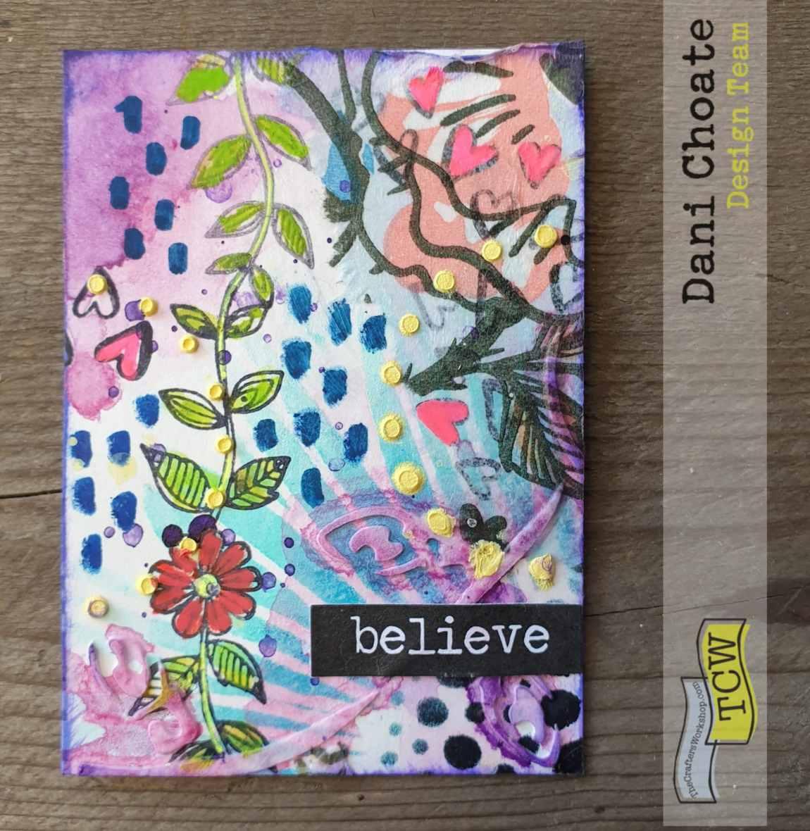 Artist Trading Card - BELIEVE