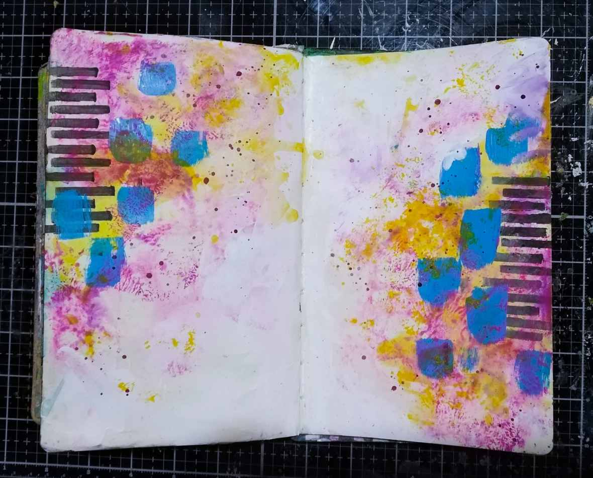 Background of art journal spread