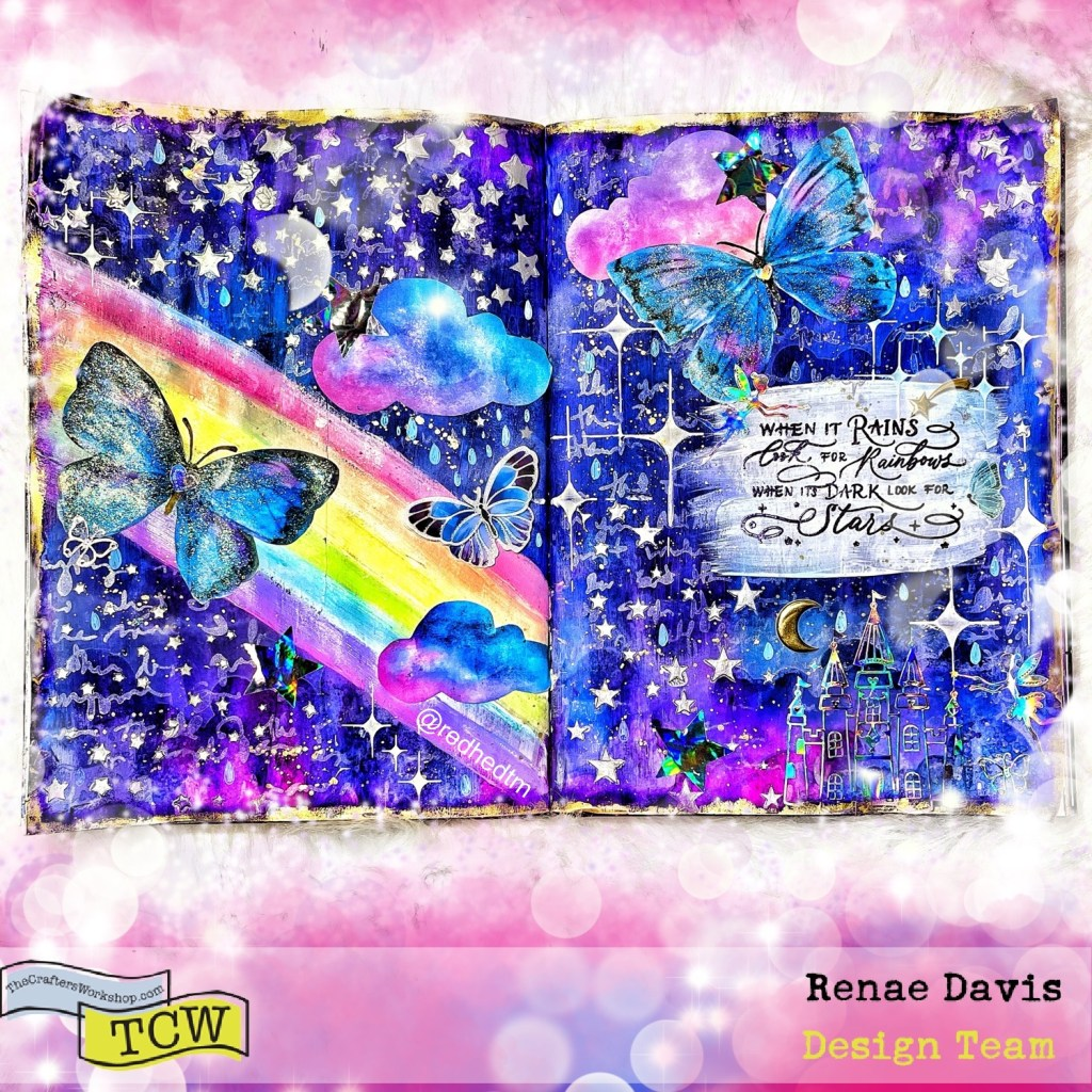 Look For the Rainbows Mixed Media Art Journal by Renae Davis