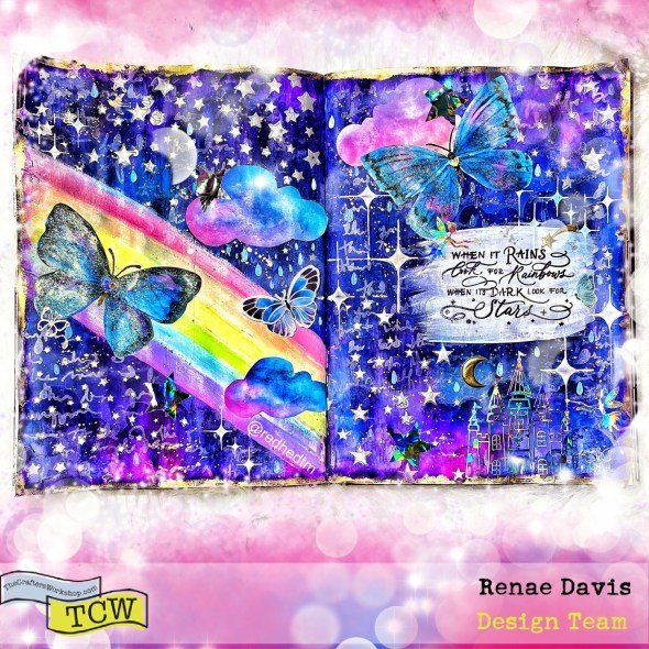 Look For the Rainbows Mixed Media Art Journal