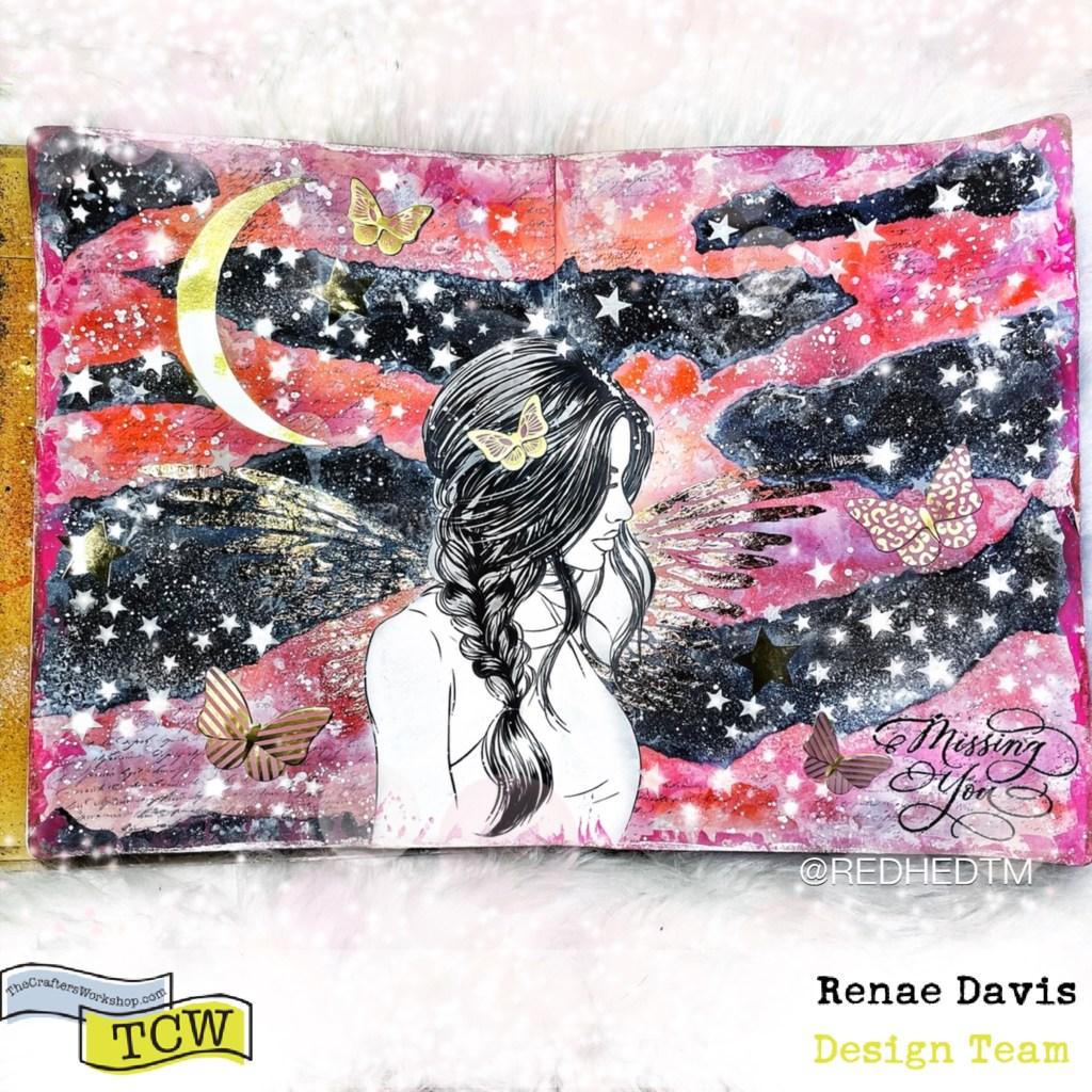 Bless the Creative Angels Mixed Media Art Journal by Renae Davis
