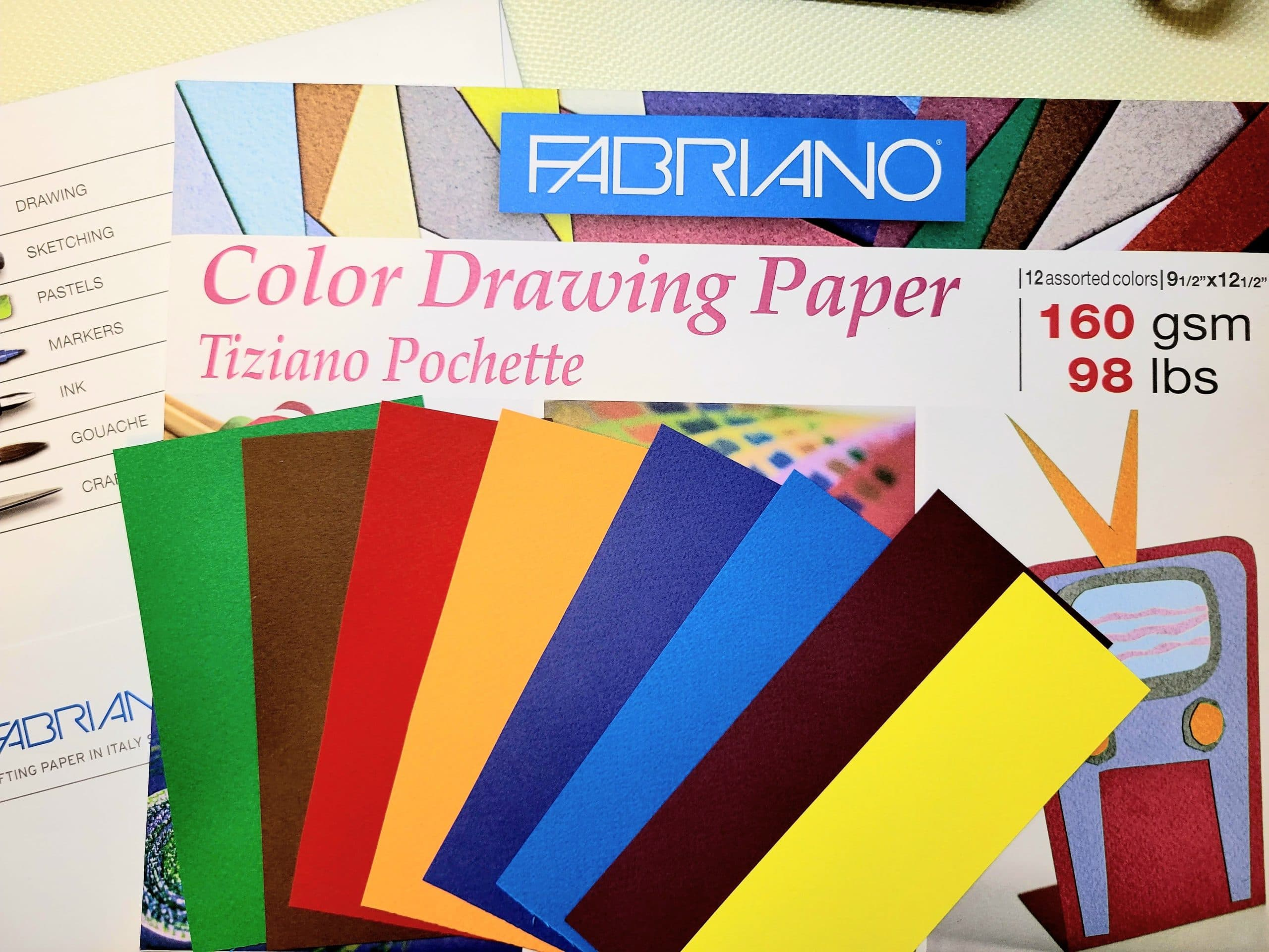 Image showing Fabriano Color Drawing Paper 160 gsm, 98 lbs