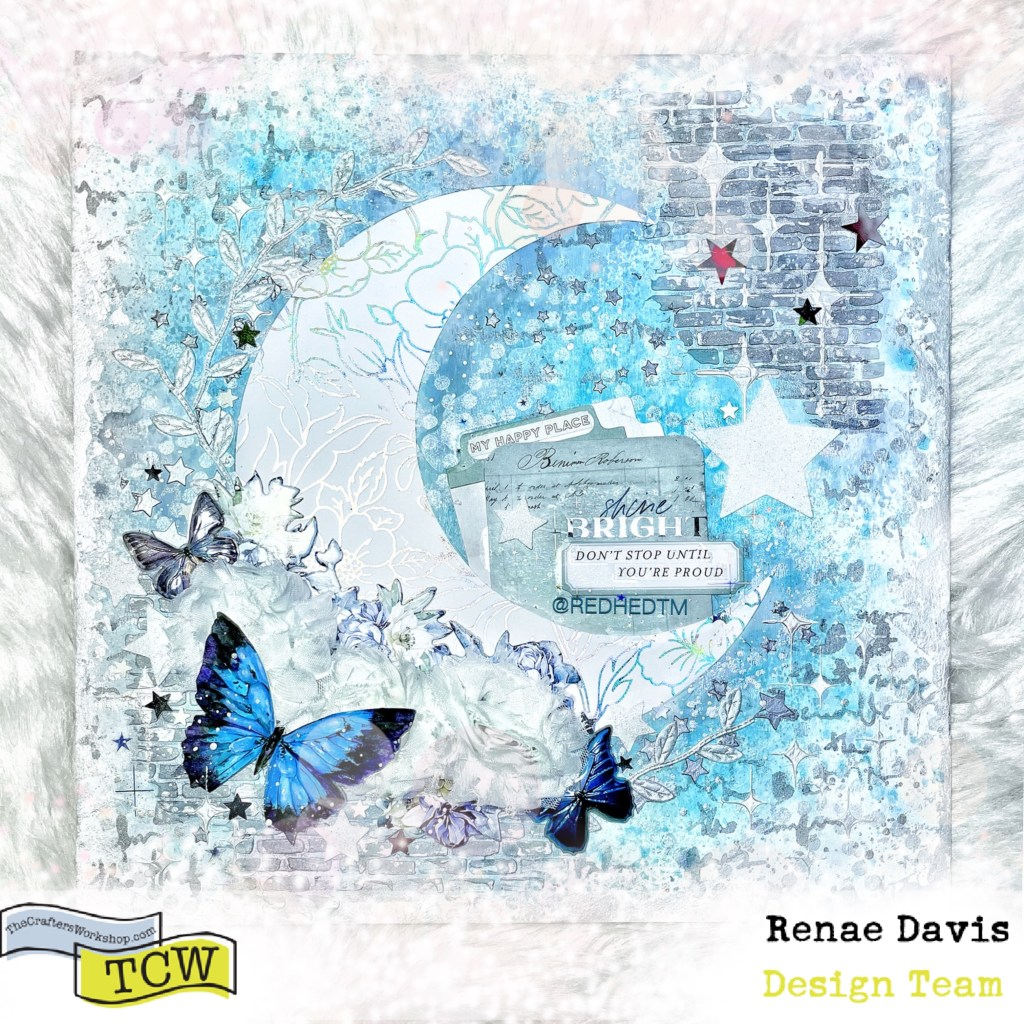 Luna Blanca Mixed Media Art Decor by Renae Davis