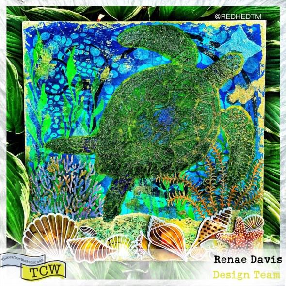 The Great Ocean Floater Mixed Media Art Decor by Renae Davis