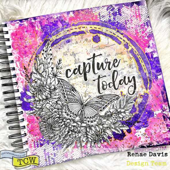 Capture Today Art Journal Page by Renae Davis
