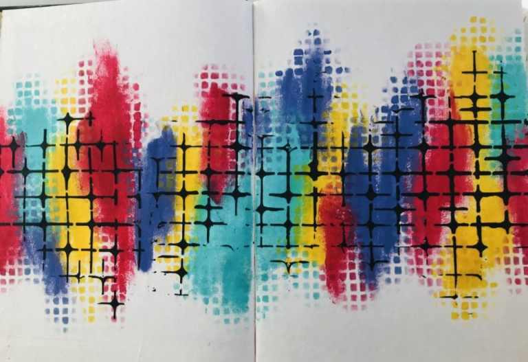 background of art journal