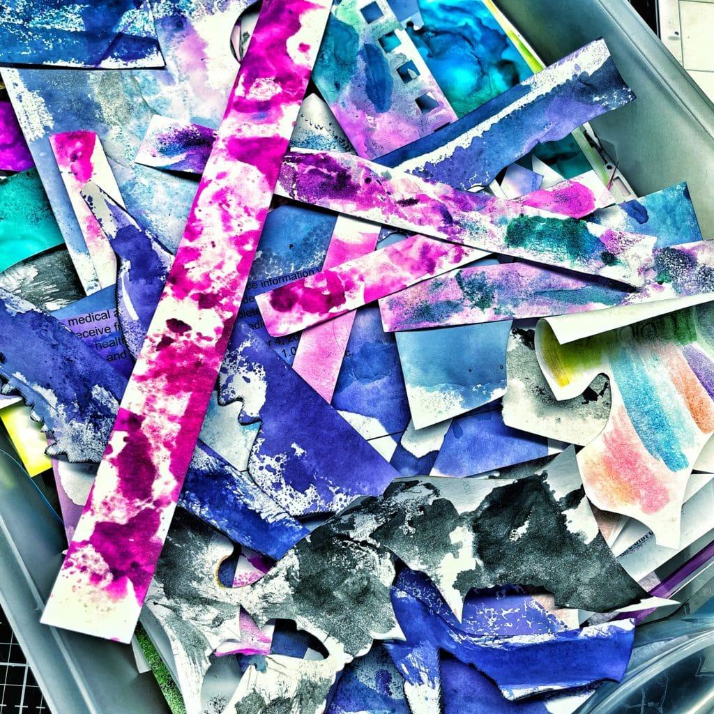 ink scrap paper strips