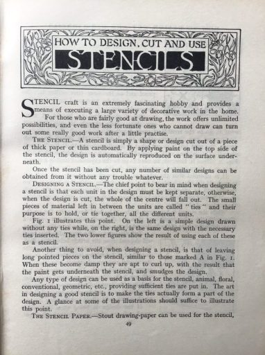 Article in a 1933 reclaimed book I found.