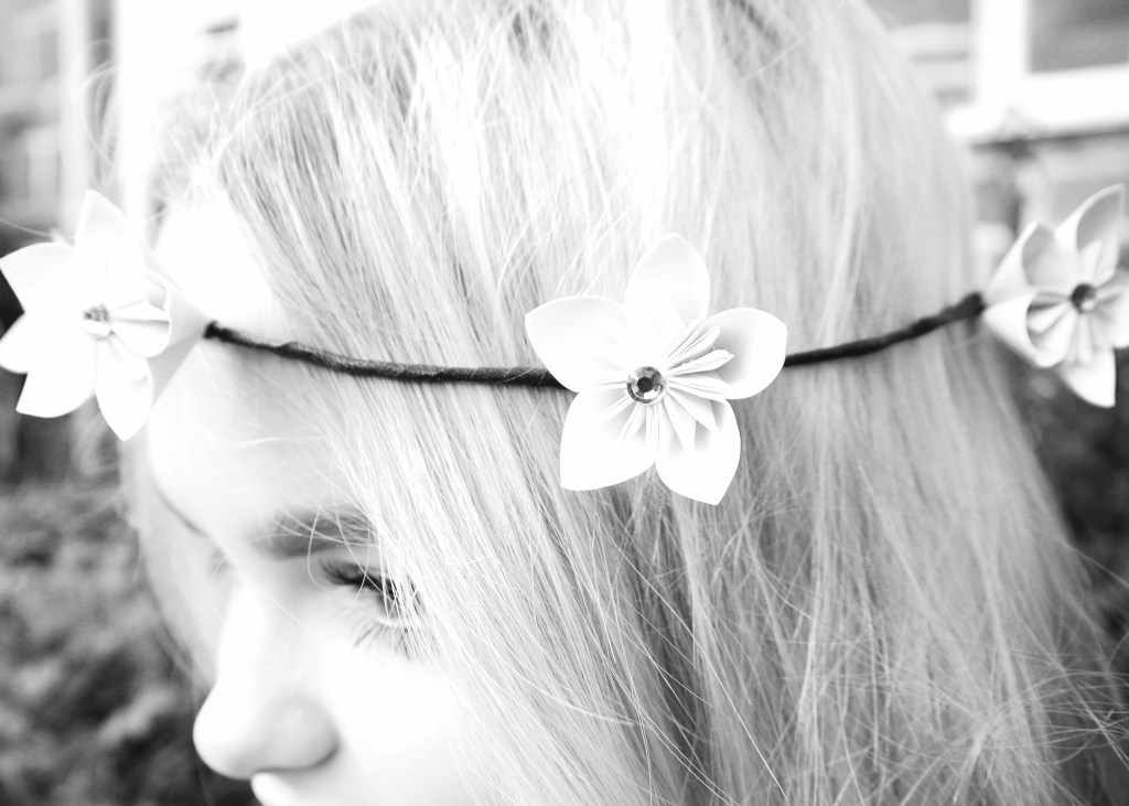 Origami flower crown