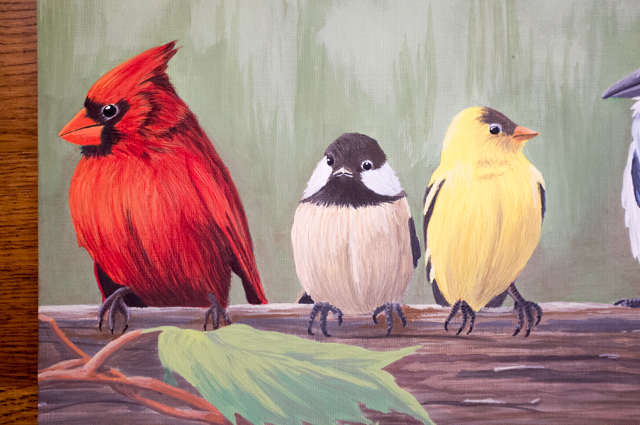 Paint-by-numbers: Railbirds